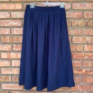 NWT J Crew Blue Midi Skirt